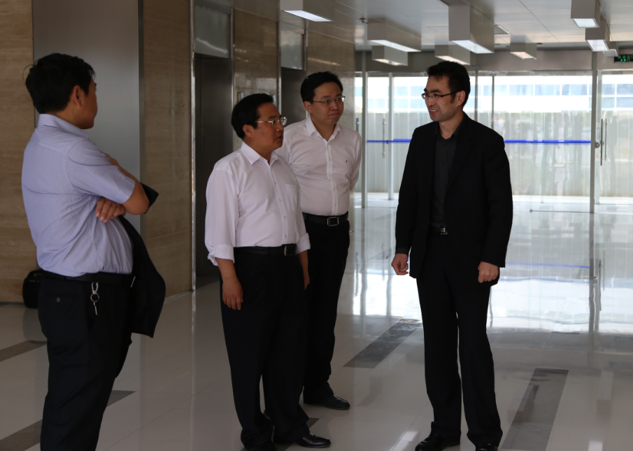 Zhang Xinqi, Qingdao Mayor, Visited Qingdao Blue Bio-medical Park of Beijing Science Park Development (Group) Co., Ltd.